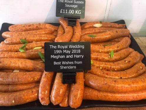 The Royal Sussex Sausage made by Sheridans in Ballater.