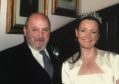 Zander Adam with Marina Donald, who he walked down the aisle on her wedding day.