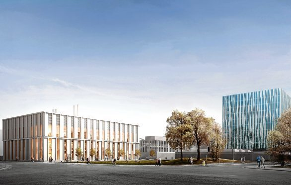 The original design image for Aberdeen University's new science building, which is to be updated.