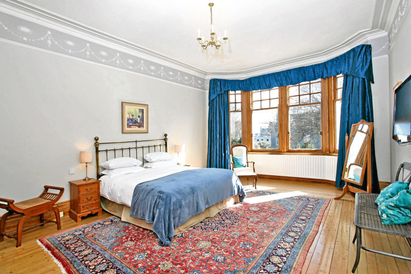 One of the many bedrooms