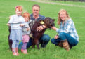 Andrew Anderson of Smallburn Farms with daughters Lucy and Chlo and his wife Judy.
