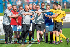 Fine for Cove and ban for manager Sheran following Pyramid Play-off final fracas