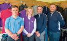 Golf students Michael Schinkel, Caitlin Boa, Alistair McNaughton and Graham Minton at Golspie Golf Club shop