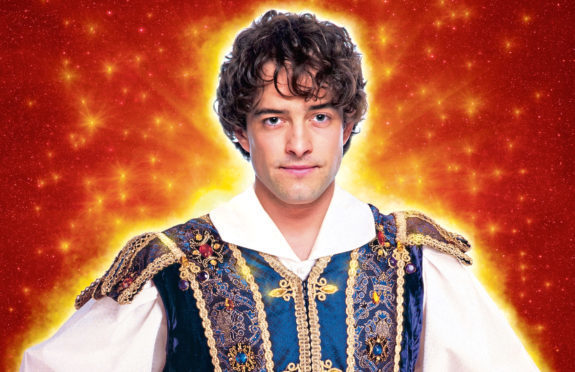 Lee Mead as the Prince in Snow White, this year's HMT panto