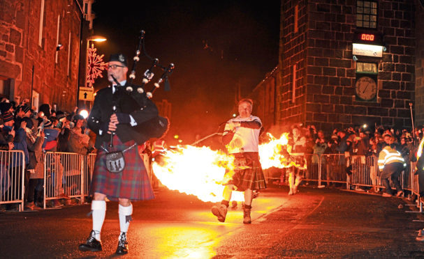 The Stonehaven Fireballs -   Picture by COLIN RENNIE