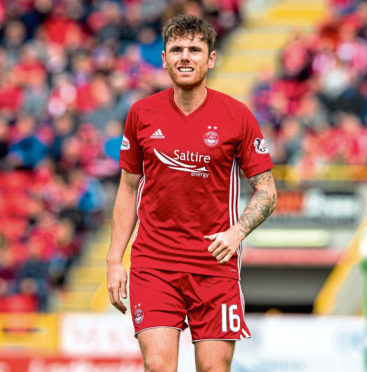 Greg Tansey in action for Aberdeen.