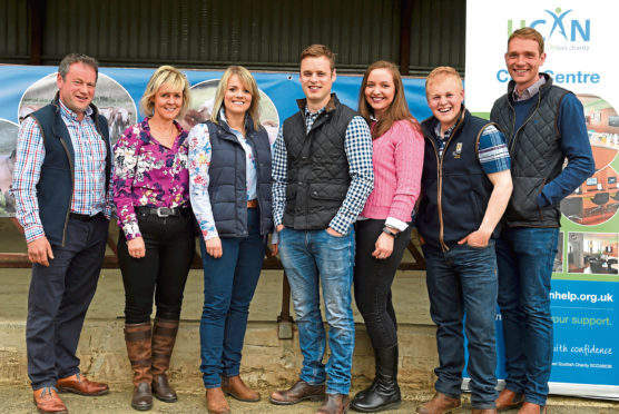 Farming Photo Diary: The NFU annual Joe Watson testimonial night at Dorsell Farm, Alford. In the picture are from left: Derek Bruce, Ann Bruce, Jo Bruce, William Bruce, Rosie Nesland, Ali Bruce and Sandy Hunter