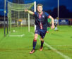 Turrifr v Formartine at the Haughs, turriff. in the picture Scott Miller celebrates his goal.  Picture by Jim Irvine  6-9-17