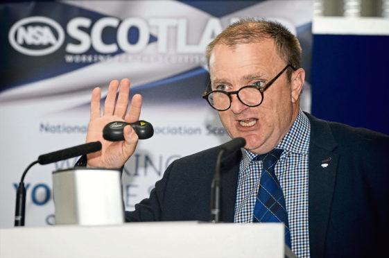 Quality Meat Scotland chairman Jim McLaren speaking at Scotsheep.