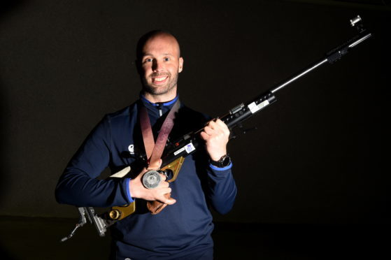 Aberdeen shooter Neil Stirton won a silver medal at the Commonwealth Games on the Gold Coast.  Picture: Kenny Elrick.