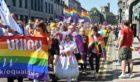 Grampian Pride marched down Union Street in Aberdeen.