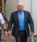 Andrew Keir leaving Elgin Sheriff Court.