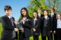 Newcastle pupils from left, Phillip Daniel, Faizah Ashraf, Abi Tang, Sandrik Andriychenko, Jiawen Dang, Aidan Ewart, Katy Read