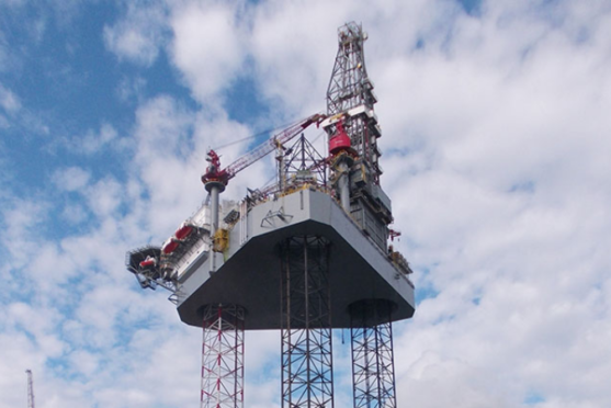 An Ensco 120 jack-up rig