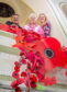Gordon Michie, head of fundraising at Poppy Scotland, Elgin Museum volunteer Mary Shand and Frances Beveridge, regional fundraiser at Poppy Scotland, with the poppies at Elgin Museum.