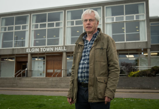 Mike Devenney, chairman of the Elgin Town Hall for the community working group, outside Elgin Town Hall