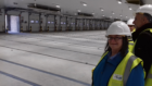 Peterhead North and Rattray Councillor Anne Allan on the tour of the town's new fish market