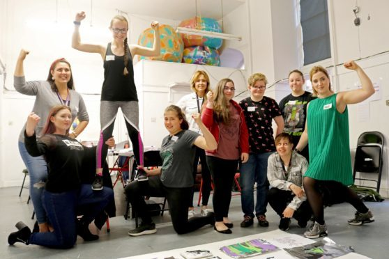 """The """"Granite Guardian Gals"""" are now arranging workshops to discuss women's rights andgather influences for the artwork"""
