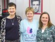 Helena Jones, Sarah Marshall and Catherine Ogilvie-Jones have shaved their heads