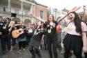 Campaigners rejoice at Dublin Castle  Picture Niall Carson/PA Wire