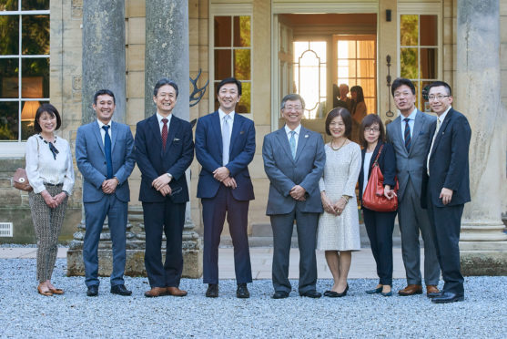 The Japanese ambassador and delegation on their visit to the north-east.