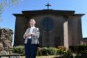 Reverend Flora Munro outside Garthdee Parish Church
