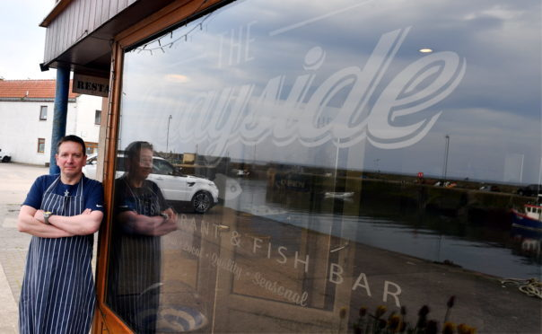 Ewen Lovie of the The Quayside Restaurant and Fish Bar