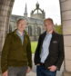 Thomas McKean (left) and Davie Donaldson at Aberdeen University.       Picture by Kami Thomson.