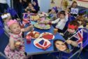Toddlers from the St Andrews Main School Nursery enjoying their street party.
