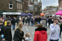 Crowds gathered in Turriff for its May Day celebration