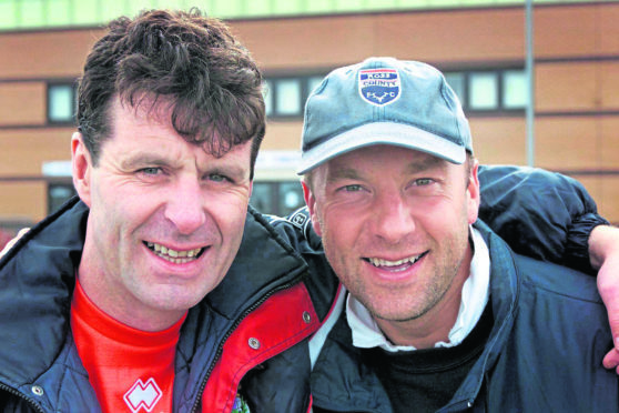 Former Aberdeen and Inverness CT manager Steve Paterson with the then Ross County manager Neale Cooper.
