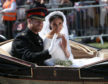 Prince Harry and Meghan Markle following their wedding