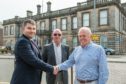 Photo shows: (L-R) James Douglas (Trustee of Stonehaven Town Partnership) Juan Ignacio Gonzalez Tejero, Estates Manager (SCTS) and John Robson (Trustee of Stonehaven Town Partnership)
