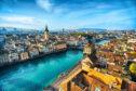 The Limmat River, Zurich, Switzerland