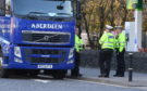The lorry involved was stopped on King Stret, near Aberdeen University