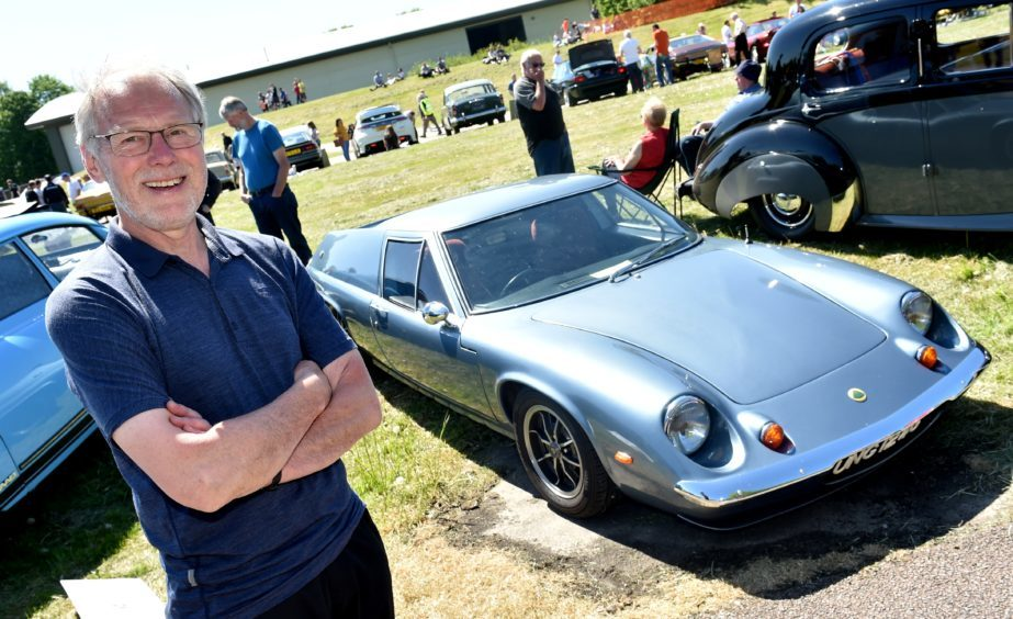 Duncan Anderson and his Lotus Europa 1969