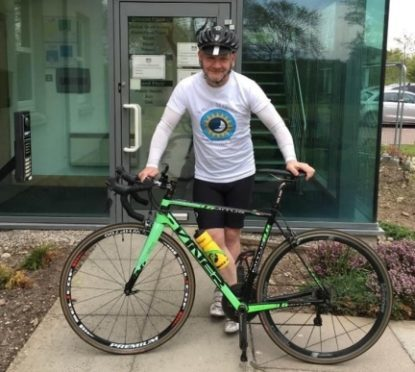 David Balfour doing a cycle from Land's End to John o'groats for Smith-Magenis Syndrome.