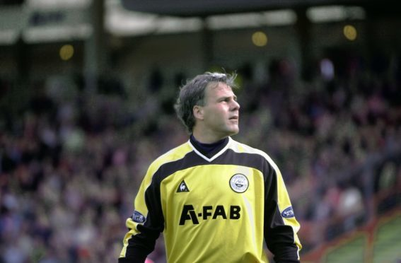Kjaer at his last Aberdeen home game against Partick Thistle.
