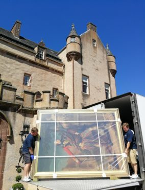 The Colonel William Gordon has been returned to Fyvie Castle after it formed part of a Dutch exhibition