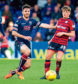 08/05/18 LADBROKES PREMIERSHIP  ROSS COUNTY vs DUNDEE  GLOBAL ENERGY STADIUM    Dundee's Lewis Spence (right) and Ross Draper