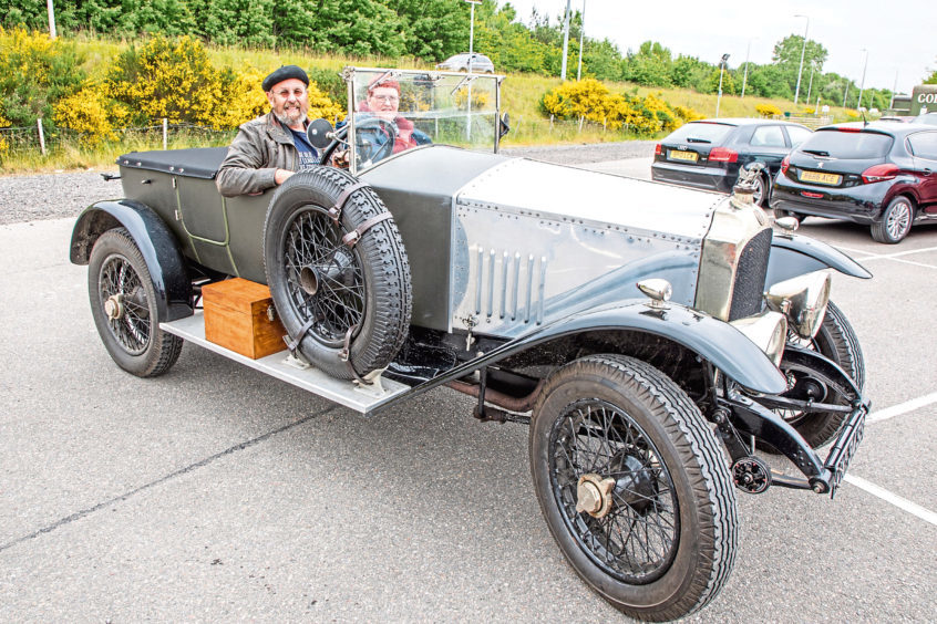Mike and Susan Holt from Stirling in their, 1922 Vauxhall 23-60