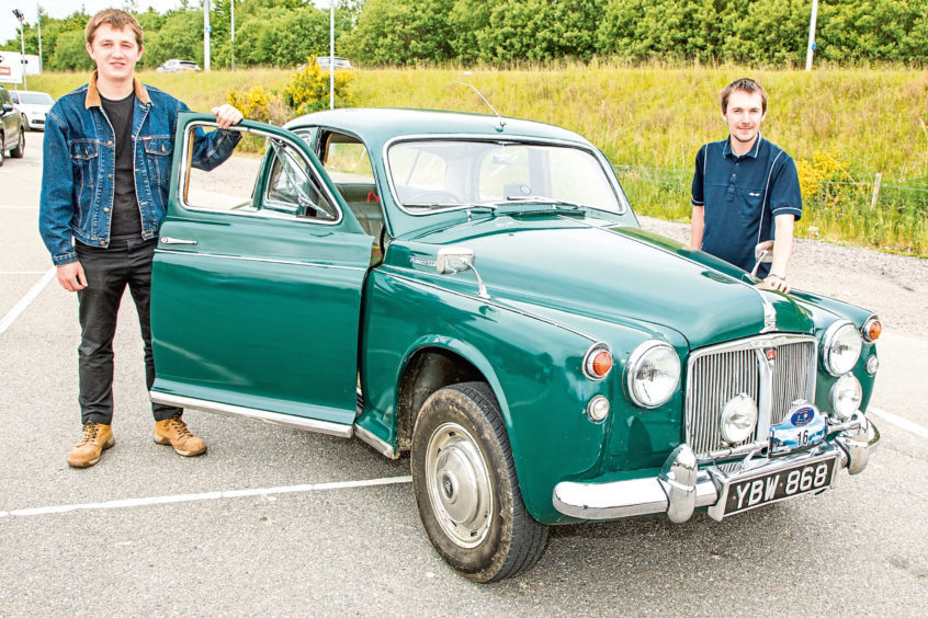 Kyle and Arron Clark from Huntly in a 1963 Rover 110.