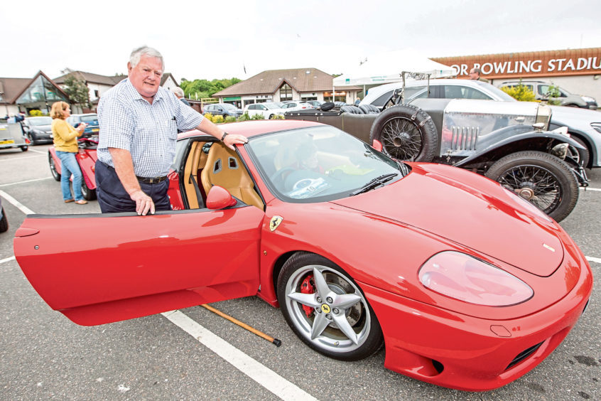 Charlie Munro from Alness with his Ferrari Modena 360