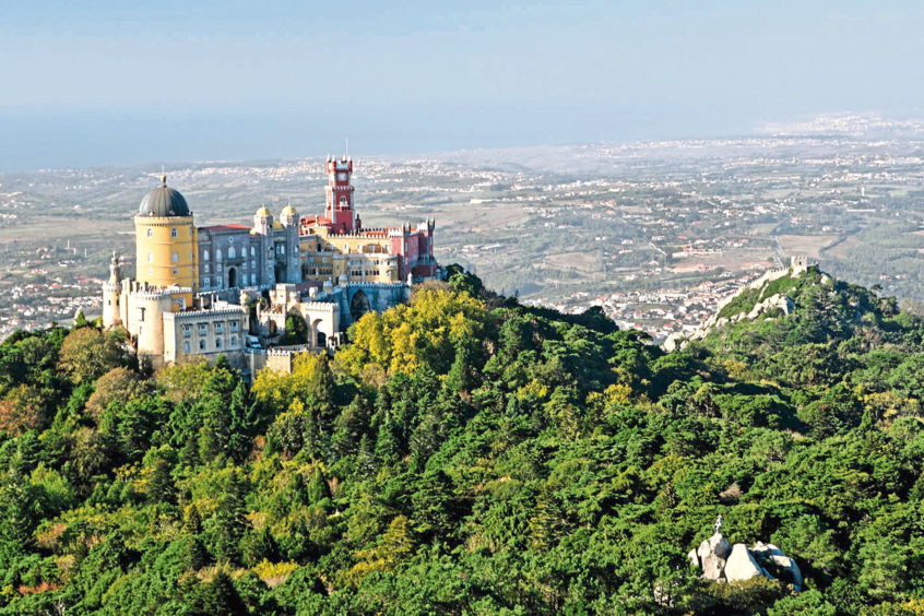 The magical Pena Palace, built on a hilltop above Sintra