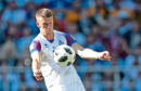 Burnley's Johann Berg Gudmundsson in action for Iceland during the 1-1 draw with Argentina in the World Cup last weekend