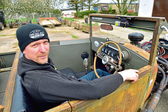 Gareth Davies in his Ford Model A rat rod which has been a labour of love over the past eight years