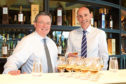 The Macallan managing director Scott McCroskie, left, and Ian Curle, chief executive of Edrington Group