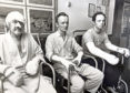 Piper Alpha survivors, including Mark Archibald Reid (centre), being treated for their injuries at ARI's burns unit.