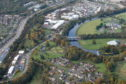 Aerial view of Persley Bridge, where the incident happened last night