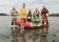 Andy Buchan, AWSG chairman Dan Price-Davies,, Cal Reed, Richard Foote,, Calum Christie and Stuart Braithwaite